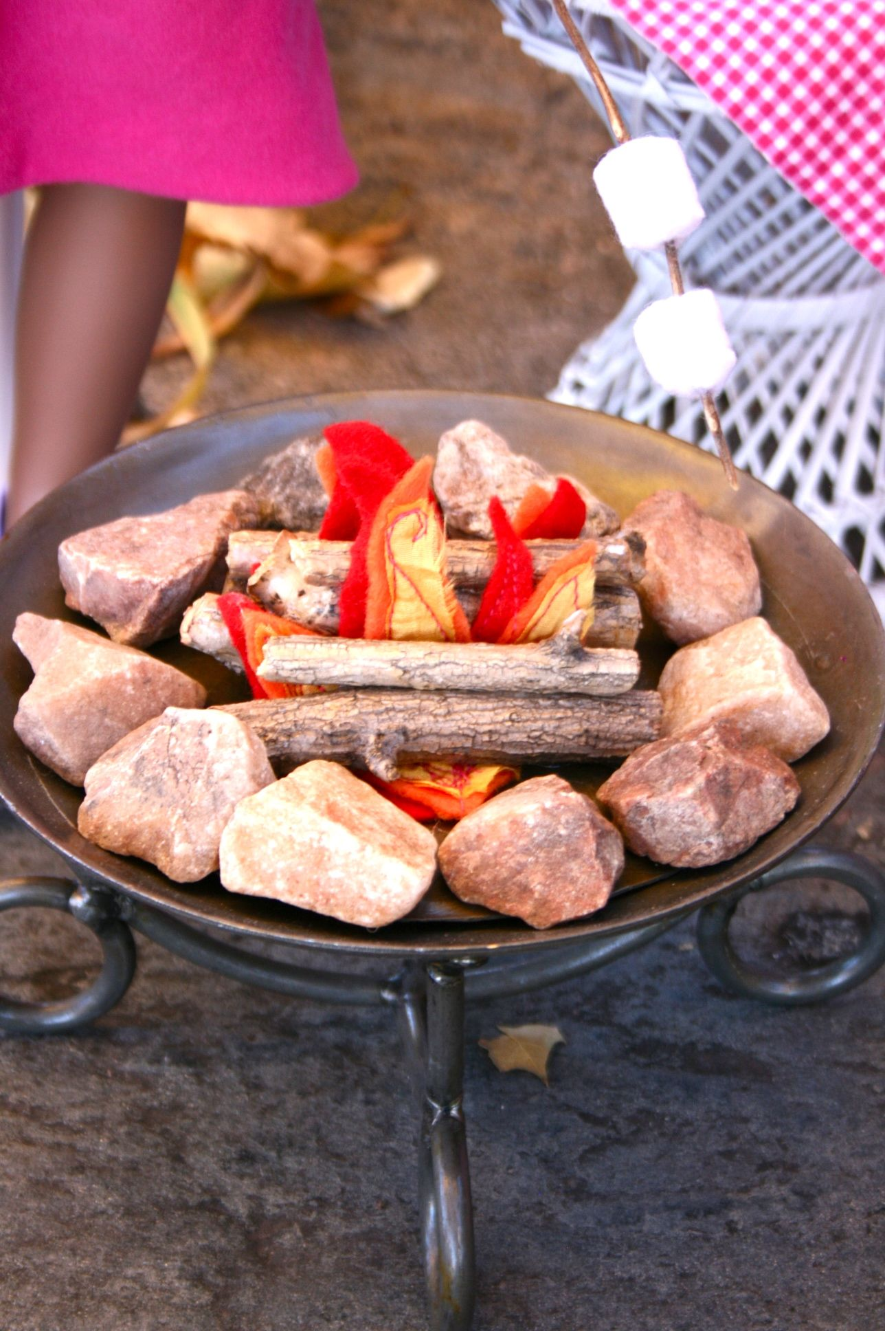 Make A Doll Campfire Part 2 The Patio Fire Pit Doll It Up
