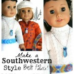 How to Make a Southwestern Style Belt for your Dolls