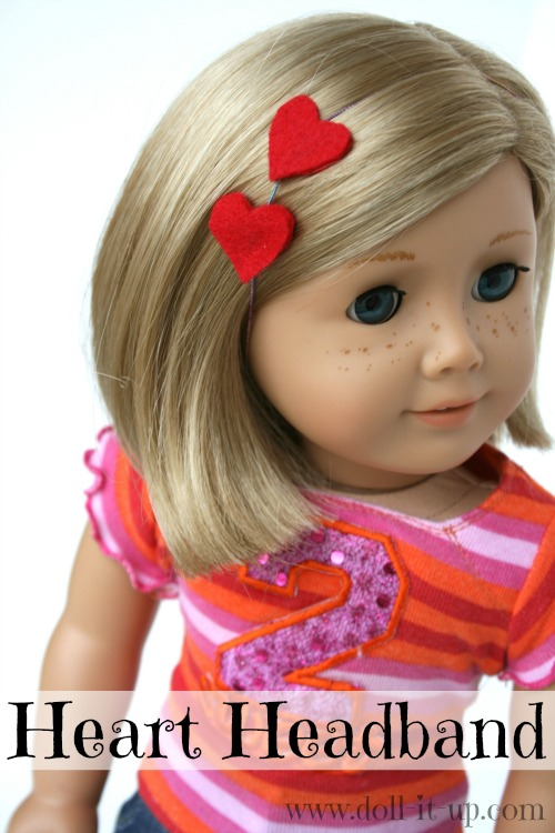 Make a heart headband for your dollsby Doll It Up