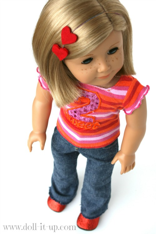 heart headband for Valentines by Doll It Up