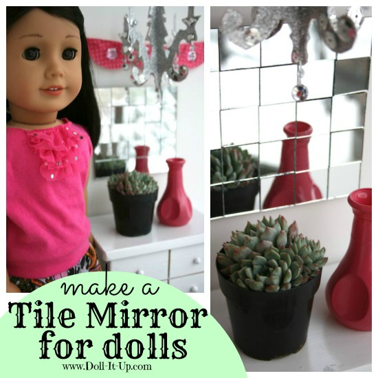 A mirror tile doll decoration via Doll It Up 3
