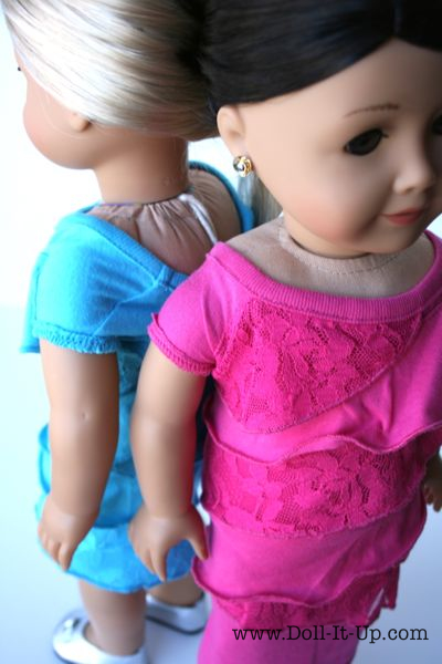 Ruffle Doll Dress Upcycled from a Shirt - 14