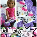 Make a Doll Plate with Colored Foil from Candy Wrappers!