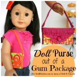 Make a Doll Purse out of a Gum Package