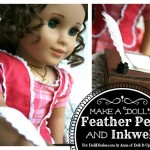Make a Feather Pen and Inkwell for Your Dolls