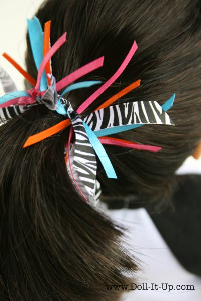 ribbon  pony tail holder via Doll-It-Up.com - 4