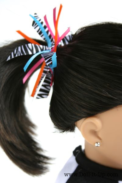 ribbon  pony tail holder via Doll-It-Up.com - 5