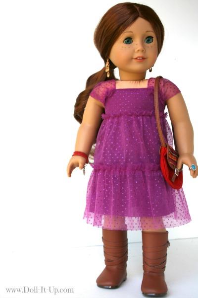 Doll dress from a girls skirt-10