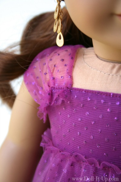 Doll dress from a girls skirt-11