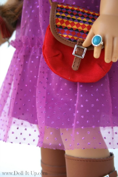 Doll dress from a girls skirt-14
