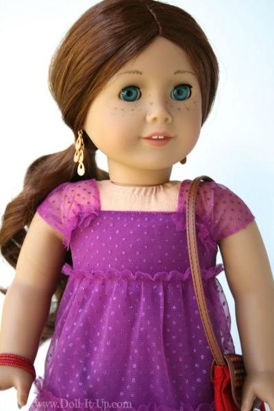Doll dress from a girls skirt-15