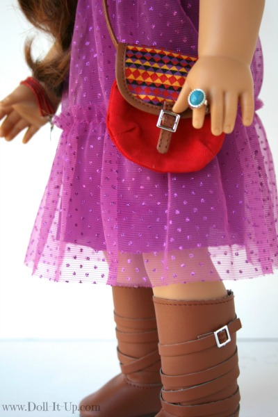 Doll dress from a girls skirt-17