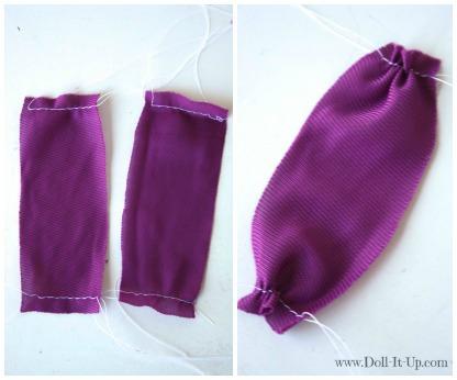 Doll dress from a girls skirt-2