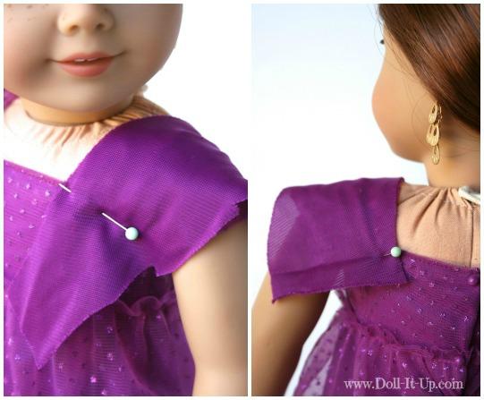 Doll dress from a girls skirt-4
