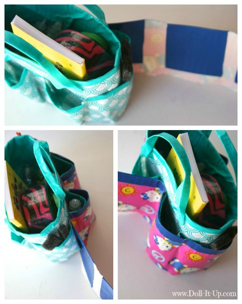 Make a doll size craft bag-7