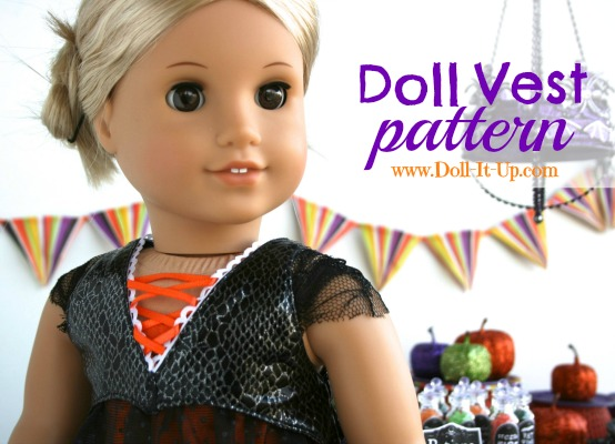 A Doll Vest Pattern-It's a free printable!