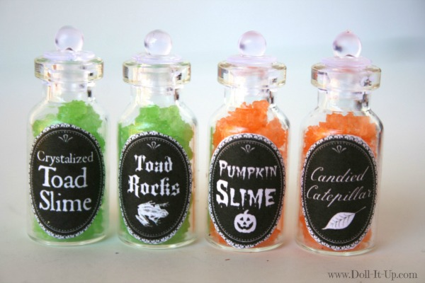 image relating to Printable Potion Labels identify Mini Potion Bottles with a printable label! - Doll It Up