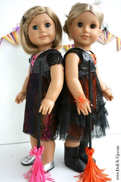 Sew a doll vest and make easy ribbon witch brooms