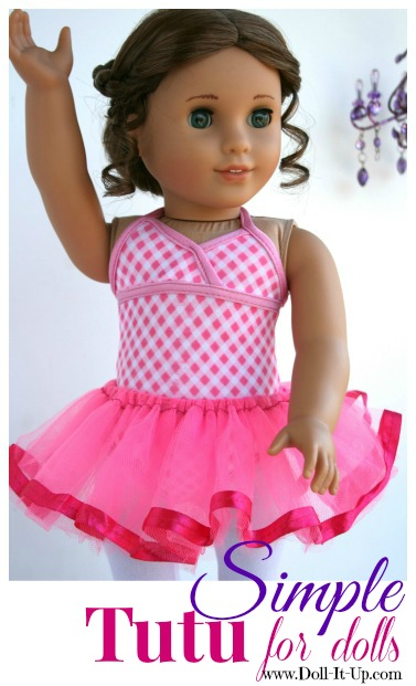 A simple tutu for dolls made from a girls tutu and instructions for how to make one from scratch!