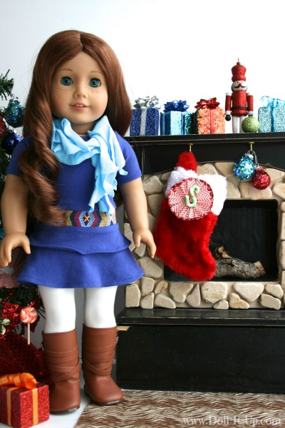 Make a monogram ornament for girls and dolls-3