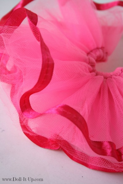 Make a tutu for dolls-12