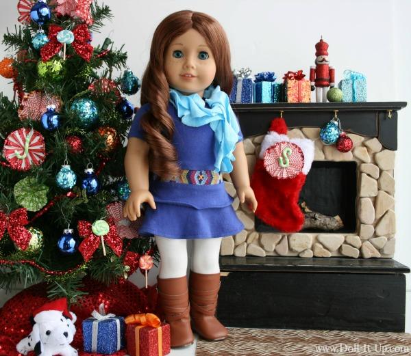 Monogram ornament for girls and dolls-1