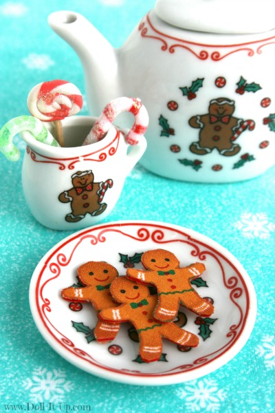 gingerbread men cookies for dolls with Phoomph