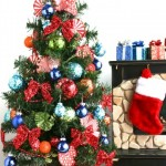 A glittering Christmas tree for dolls-3