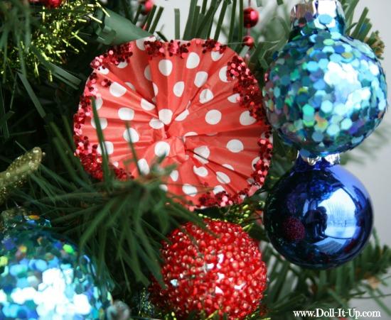 cupcake liner ornaments-13