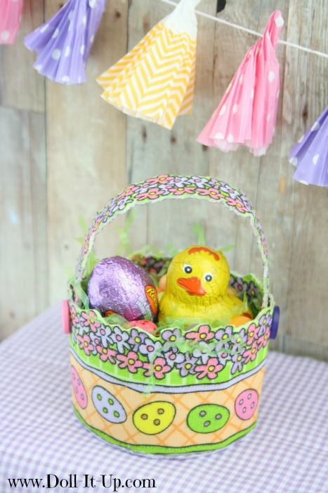 Make a doll size Easteer basket