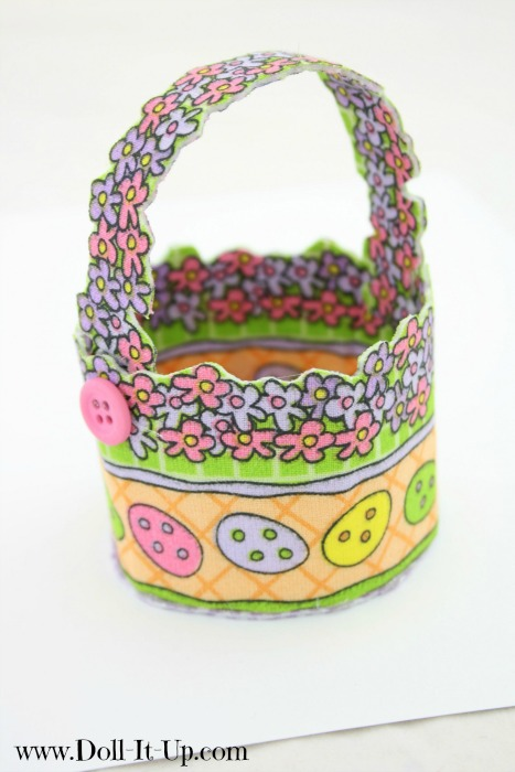 Make a doll size Easter basket