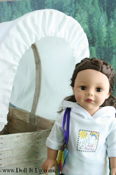 Visiting the Covered Wagon at Camp Doll Diaries
