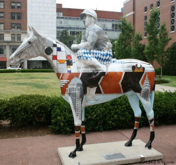 Derby Horse Art at Louisville Kentucky