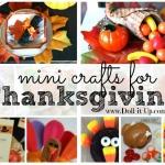 Mini Thanksgiving Craft Roundup