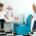 Make a Retro Diner Booth for Dolls