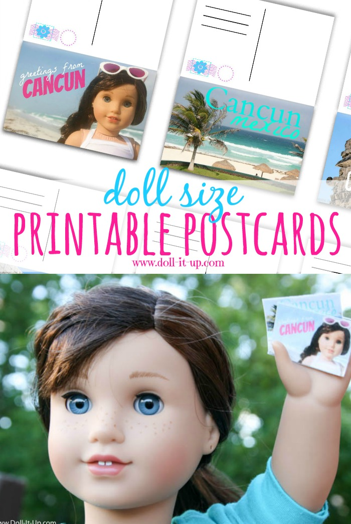 Doll Printable Postcards Cancun Mexico
