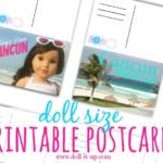 Doll Postcards from Paradise {printable included!}