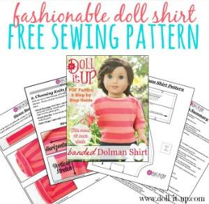 Doll Shirt Free Sewing Pattern