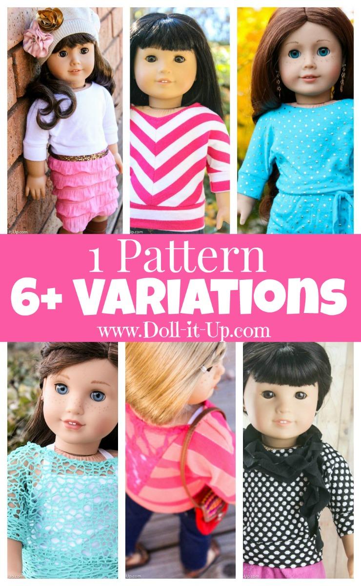 Sew 6 Dolman Shirt Variations