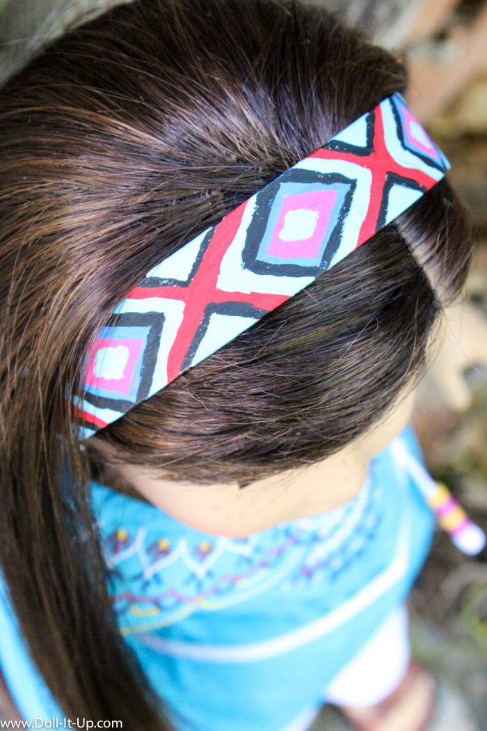 Wooden Headband for Dolls