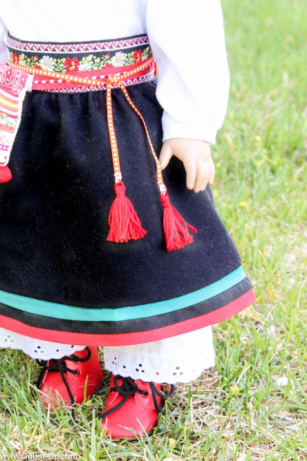 Scandinavian folk costime for dolls