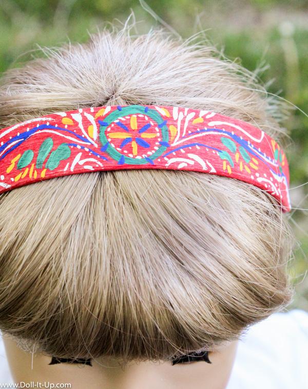 Scandinavian headband for dolls